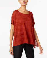 Eileen Fisher Petite Textured Scoop-Neck Top