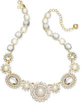 Kate Spade Gold-Tone Imitation Pearl & Crystal Statement Necklace