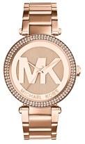 MICHAEL Michael Kors Women's Michael Kors 'Parker' Logo Dial Bracelet Watch, 39Mm