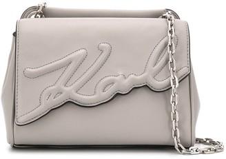 Karl Lagerfeld Paris K/Signature soft small shoulder bag