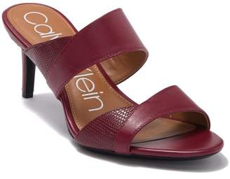 Calvin Klein Lynnae Textured Slide Sandal