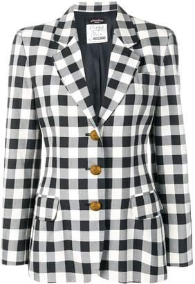 Moschino Pre-Owned 1990's checked slim blazer