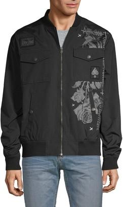 Affliction Graphic Bomber Jacket