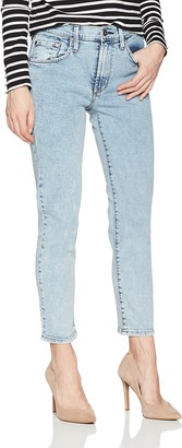 James Jeans Women's Donna High Rise Mom Jean in New Wave 31