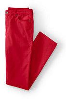 Classic Women's Petite Mid Rise Slim Leg Corduroy Pants-Black