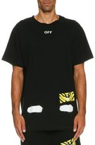 Off-White Spray-Paint Logo T-Shirt, Black/White