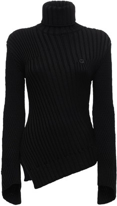 Coperni Viscose Blend Rib Knit Sweater
