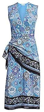 Altuzarra Women's Sade Sleeveless Paisley Silk Wrap Dress