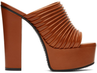 Givenchy Orange Platform Mules