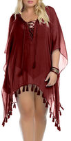 Becca Etc Plus Wanderer Lace-Up Cover-Up Tunic