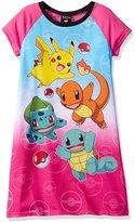 """Pokemon Big Girls' """"Everybody Run!"""" Nightgown"""