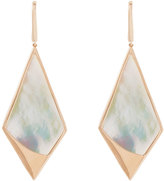 Lana 14k Rose Gold Satin Kite Mother-of-Pearl Drop Earrings