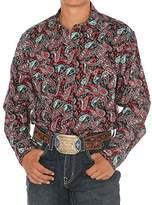 Cinch Men's Modern Fit Long Sleeve Snap Print Shirt