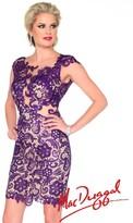 Mac Duggal Evening Gowns - 61413R in Platinum / Nude