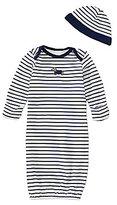 Little Me Baby Boys Newborn-3 Months Dachshund Gown & Hat Set