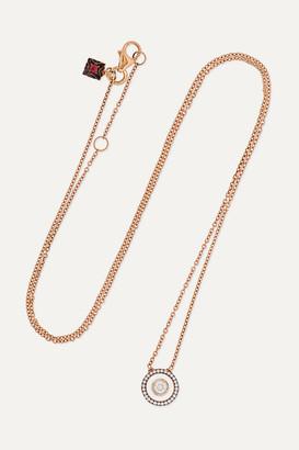 Selim Mouzannar 18-karat Rose Gold, Enamel And Diamond Necklace