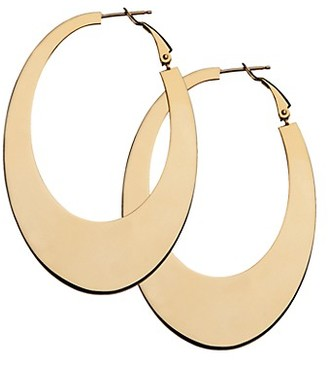 Jennifer Zeuner Jewelry Josie 14K Goldplated Tapered Hoop Earrings