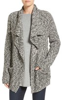 Eileen Fisher Organic Cotton & Alpaca Drape Front Cardigan (Regular & Petite)