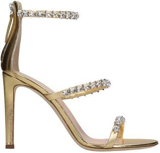 Giuseppe Zanotti Sandals In Gold Leather