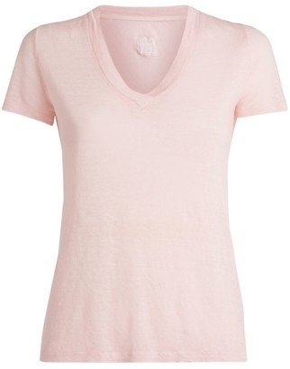 120% Lino Linen V-Neck T-Shirt