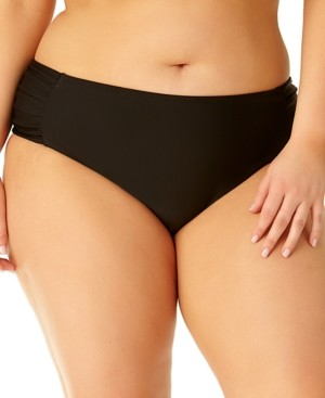 California Waves Plus Size Side-Tab Bottoms, Created for Macy's Women's Swimsuit