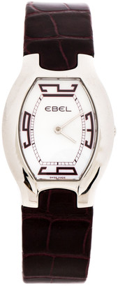 Ebel Mother of Pearl Stainless Steel Leather Beluga E9656G31 Women's Wristwatch 28 mm