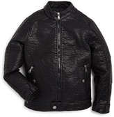 Urban Republic Boys' Textured Faux Leather Jacket - Sizes 8-20