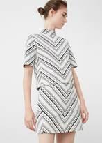 MANGO Geometric Pattern Cotton Top