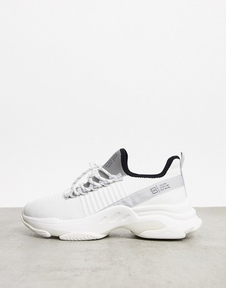 Steve Madden macdad lace up runner trainers in white