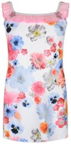 Pate De Sable Floral Print Beach Dress