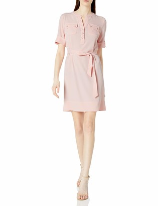 Anne Klein Women's Belted Shirt Dress