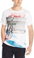 Buffalo David Bitton Men's Nafing Short Sleeve Faded Wash Graphic T-Shirt
