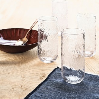 Lucky Brand Set Of 4 Textured Hb Glasses