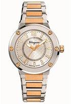 Salvatore Ferragamo Women's FIG040015 F-80 Analog Display Quartz Two Tone Watch
