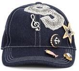 Dolce & Gabbana Embellished denim cap