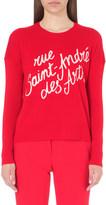 Maje Madeleine wool and cashmere-blend jumper