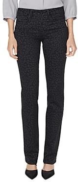 NYDJ Marilyn Straight-Leg Jeans in Whisper Cat