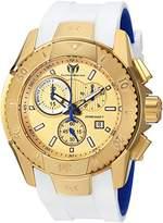 Technomarine Men's 'UF6' Quartz Gold-Tone and Silicone Casual Watch, Color:White (Model: TM-616004)