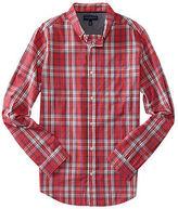 Aeropostale Mens Prince & Fox Long Sleeve Preppy Plaid Woven Shirt