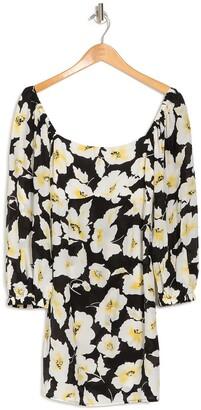 BA&SH Fire Floral Square Neck Dress
