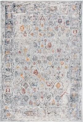 """Lauren Ralph Lauren Oriental Light Gray/Rust Area Rug Rug Size: Rectangle 5'1"""" x 7'6"""""""