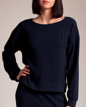 Woolrich Skin Cotton Lycra Jacquard Knit Coraline Sweatshirt