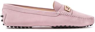 Tod's Buckle-embellished Nubuck Loafers