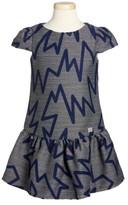 Armani Junior Girl's Zig Zag Drop Waist Dress