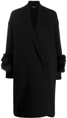 Antonelli Faux-Fur Detail Cardi-Coat