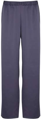 Eileen Fisher Purple Satin Trousers