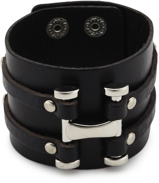 CORED KK13 Bracelet Leather with Stainless Steel 19.5 x 21.5 cm
