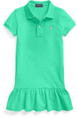 Ralph Lauren Cotton Mesh Polo Dress
