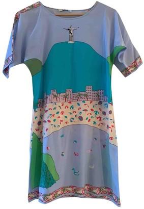 Charlotte Sparre Blue Silk Skirt for Women