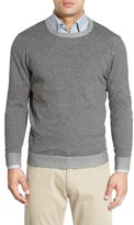 Nordstrom Plaited Cotton Crewneck Sweater